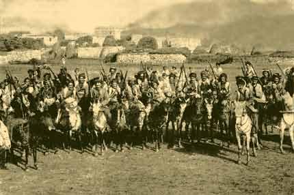 Курдская конница, принимающая участіе въ бояхъ съ русскими войсками