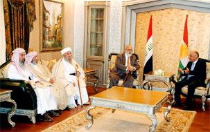 Спикер Курдского парламента Аднан Муфти принял высокую делегацию Езидов