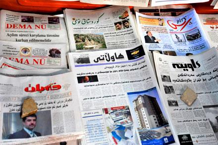 Поздравление езидских журналистов в Дахуке