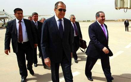 Парламентская делегация Ирака встречает Министра иностранных дел России