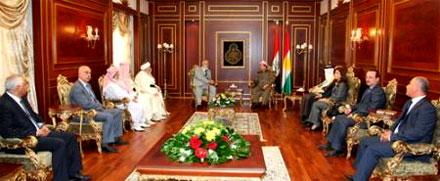 Встреча духовного лидера  Езидов всего мира с президентом Курдистана