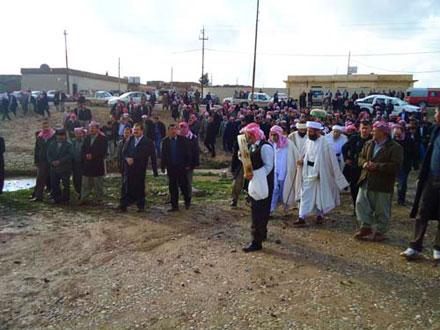 Погребение известной религиозной личности езидов Баба Кафана согласно обычаям